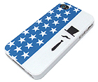 MUSTACHE MAN AND AMERICAN THEME CELLPHONE CASE - HARD CASE FOR IPHONE 4