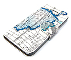 LEATHER MAP THEME AND INSIDE HARD CASE FOR CELL PHONE CASE - HARD CASE FOR IPHONE 5