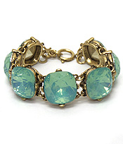 CATHERINE POPESCO iNSPIRED OPAL CRYSTALS LINKED BRACELET - Wholesale Jewelry