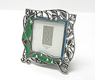PEARL AND EPOXY LADY BUG METAL ART SQUARE PICTURE FRAME
