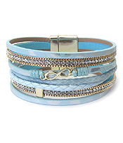 MULTI LEATHER LAYER MAGNETIC BRACELET - INFINITY