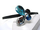 FACET GLASS DECO BUTTERFLY ACCENT HAIR BAND