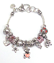 MULTI CRYSTAL RING LOVE THEME BRACELET