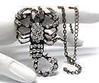 CRYSTAL SCORPION PENDANT CHAIN NECKLACE