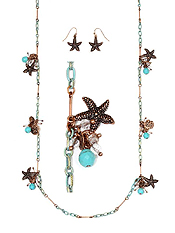 STARFISH LONG STATION NECKLACE SET