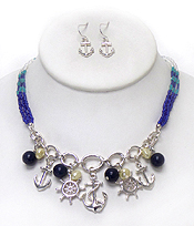 SEA LIFE THEME PEARL DROP NECKLACE SET