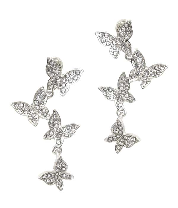 MULTI BUTTERFLY LINK DROP EARRING