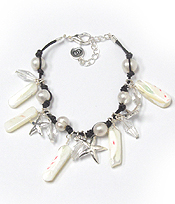 STARFISH AND PEARL BRACELET