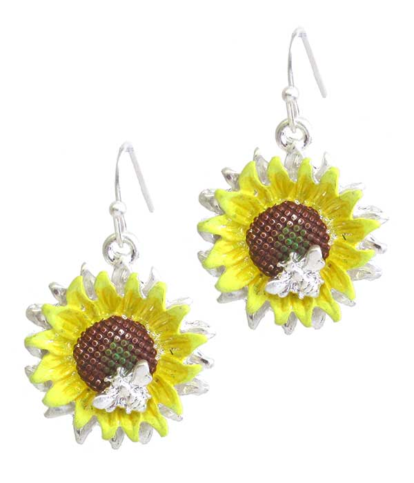 EPOXY SUNFLOWER EARRING