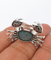 CRAB ABALONE ADJUSTABLE RING