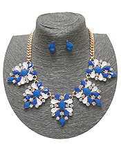 SPRING STATEMENT MULTI STONE LINK NECKLACE SET