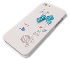 FABRIC RIBBIN WITH BIRD THEME CELLPHONE CASE -HARD CASE FOR IPHONE 5
