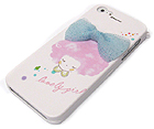 FABRIC BOW WITH  LOVELY GIRL THEME CELLPHONE CASE -HARD CASE FOR IPHONE 5