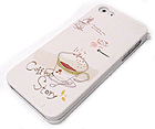 COFFEE CUP AND COFFEE STORY THEME CELLPHONE CASE -HARD CASE FOR IPHONE 5