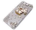 MULTI CRYSTAL WITH CRYSTAL GLASS WITH CRYSTAL METAL TOY HORSE ON CELLPHONE CASE -HARD CASE FOR IPHONE 5