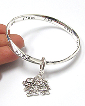 SISTERS THEME TWIST BANGLE BRACELET