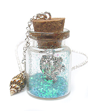 SEALIFE IN A BOTTLE NECKLACE