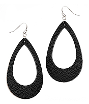LEATHERETTE TEARDROP EARRING