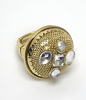 PUFFY METAL MESH DECO STRETCH  RING