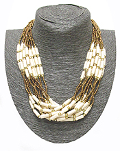 SEED BEADS MULTI LAYERED NECKLACE
