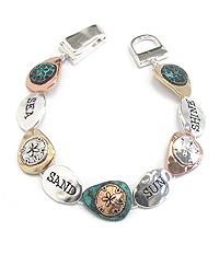 SEALIFE THEME MAGNETIC BRACELET - SAND DOLLAR