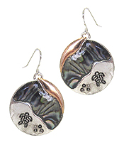 SEALIFE THEME ABALONE DISC EARRING