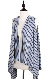 MINI STRIPED JERSEY VEST - 100% POLYESTER