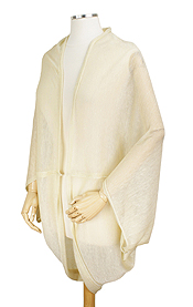 LIGHT WEIGHT LUREX SHEER SHRUG - 35% COTTON,65% POLYESTER