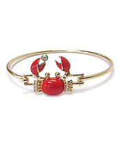 CRAB WIRE BANGLE BRACELET