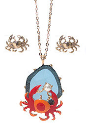 CRAB PENDANT NECKLACE SET