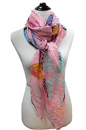 WORLD OF BUTTERFLY SCARF
