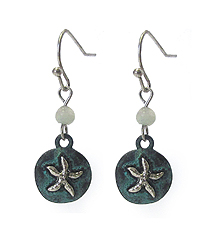 VINTAGE STARFISH DISK DROP EARRING