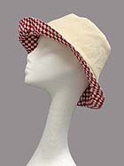 CHECKER PATTERN PRINT REVERSIBLE HAT
