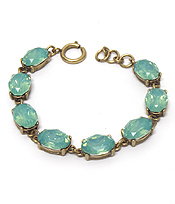 CATHERINE POPESCO INSPIRED OVAL OPAL CRYSTALS LINKED BRACELET