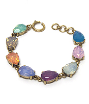 CATHERINE POPESCO INSPIRED TEAR DROP OPAL CRYSTALS LINKED BRACELET
