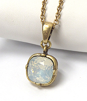 CATHERINE POPESCO INSPIRED CRYSTAL PENDANT NECKLACE