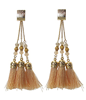 TRIPLE TASSEL DROP EARRING