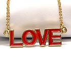 METAL EPOXY LOVE THEME CHAIN NECKLACE