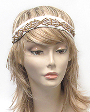 BEADED STRETCH HEADBAND