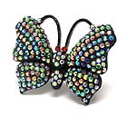 CRYSTAL STUD BUTTERFLY STRETCH RING
