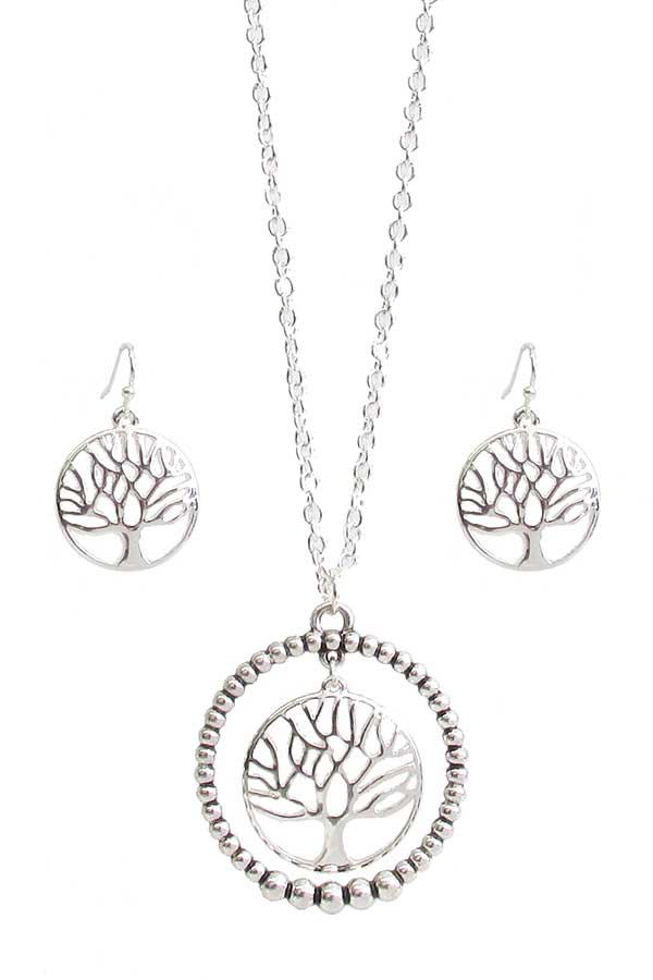 RELIGIOUS INSPIRATION TREE OF LIFE PENDANT NECKLACE SET