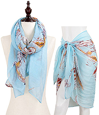 DREAM CATCHER OBLONG SCARF - 100% POLYESTER