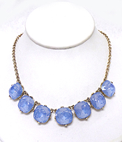 CATHERINE POPESCO INSPIRED LINKED LARGE OPAL CRYSTAL NECKLACE