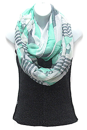 ANCHOR PATTERN INFINITY SCARF