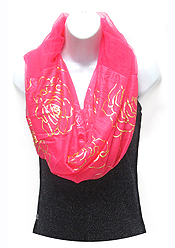 ROSE PRINT INFINITY SCARF