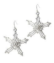 METAL WIRE STARFISH EARRING