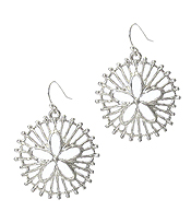 METAL SAND DOLLAR EARRING