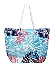 FULL SIZE TROPICAL LEAFY BEACH SHOULDER BAG