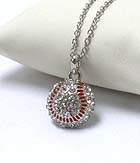 PREMIER ELECTRO PLATING CRYSTAL BASEBALL PENDANT NECKLACE