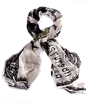 35X70 INCH HUNDRED DOLLAR BILL PRINT FASHION SCARF - Wholesale Fashion Accessories